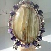 Украшения handmade. Livemaster - original item Bracelet with Amethyst and the familiar