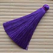 Шёлковая кисть 70 мм Фиолетовая
