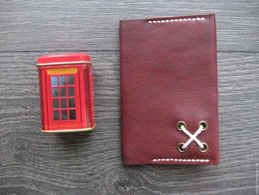Обложки ручной работы. Ярмарка Мастеров - ручная работа. Купить Обложка для паспорта Red Brick. Handmade. Бордовый, обложка из кожи