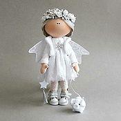 Куклы и игрушки handmade. Livemaster - original item Angel platinum, and pig. Textile doll and a symbol of 2019. Handmade.