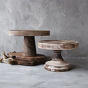 Посуда handmade. Livemaster - original item Copy of Copy of Wood Cake Stand 26 cm Cake platte. Handmade.