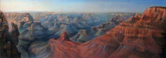 """Пейзаж ручной работы. Ярмарка Мастеров - ручная работа. Купить Картина """"Большой Каньон Колорадо"""". Handmade. Большой каньон, горизонтальный"""