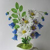 Цветы и флористика ручной работы. Ярмарка Мастеров - ручная работа Букет с колокольчиками. Handmade.