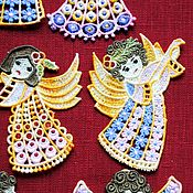 Сувениры и подарки handmade. Livemaster - original item Set angels color, 12shtuk. Handmade.