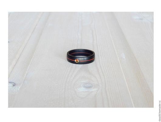 Кольца ручной работы. Ярмарка Мастеров - ручная работа. Купить Деревянное кольцо с цитрином.. Handmade. Кольцо из дерева, стильное кольцо