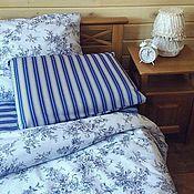 Для дома и интерьера handmade. Livemaster - original item Bed linen Blue bird. Handmade.