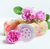 Косметика ручной работы handmade. Livemaster - original item Natural soap rose from scratch soap Flower pink. Handmade.