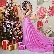 Платья ручной работы. Ярмарка Мастеров - ручная работа Платье с жемчужинами розовое. Handmade.
