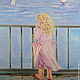 Oil painting on canvas. In love with a sailor, Pictures, Moscow,  Фото №1