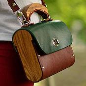Сумки и аксессуары ручной работы. Ярмарка Мастеров - ручная работа Кожаная женская сумка Colorfull GB из кожи и дерева. Handmade.