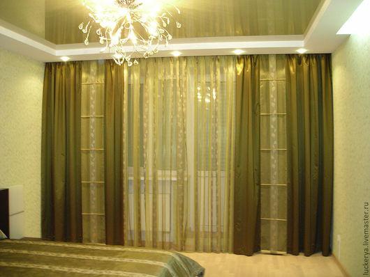 Текстиль, ковры ручной работы. Ярмарка Мастеров - ручная работа. Купить Комплект штор и покрывала для спальни RELAX. Handmade.