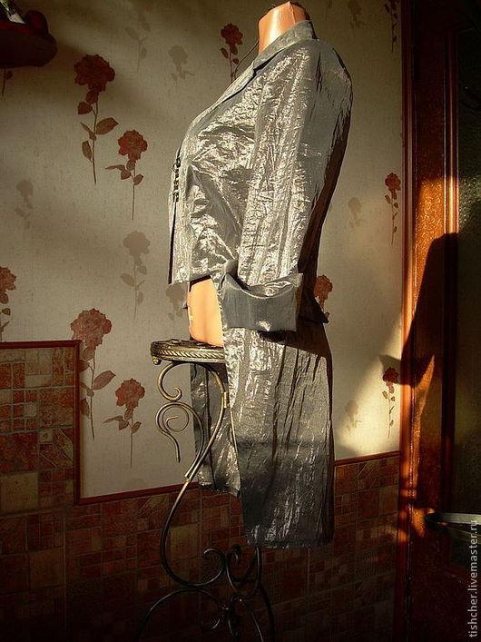 """Пиджаки, жакеты ручной работы. Ярмарка Мастеров - ручная работа. Купить Фрак из органзы  """"Элегантный минимализм"""". Handmade. Серый"""
