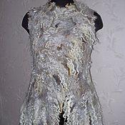 Одежда handmade. Livemaster - original item Vest felted fleece wild skin-3. Handmade.