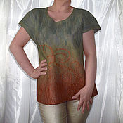 Одежда ручной работы. Ярмарка Мастеров - ручная работа Туника коричневая. Handmade.