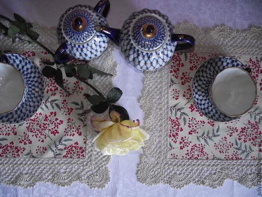 Текстиль, ковры ручной работы. Ярмарка Мастеров - ручная работа. Купить Салфетка Алые ягоды. Handmade. Салфетка, салфетка крючком