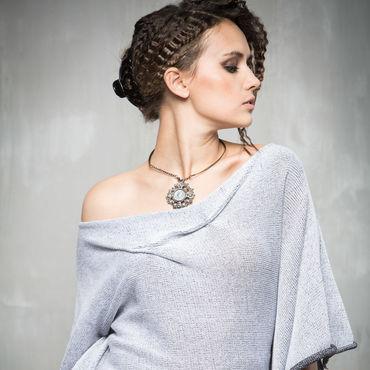Одежда ручной работы. Ярмарка Мастеров - ручная работа ГА_002 Блузон с крыльями, цвет черно-белый. Handmade.