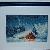 Картины и панно ручной работы. Ярмарка Мастеров - ручная работа Рожденственская ночь. Handmade.