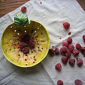 """Салатники ручной работы. Ярмарка Мастеров - ручная работа Berry Bowl """"Желтая Хризантема"""". Handmade."""
