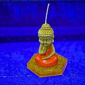 Свечи ручной работы. Ярмарка Мастеров - ручная работа Свечи: Маленький Будда с подсвечником в виде лотоса. Handmade.
