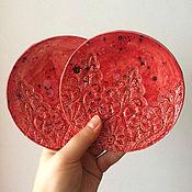 """Посуда ручной работы. Ярмарка Мастеров - ручная работа Набор блюдец """" Испанская страсть """". Handmade."""