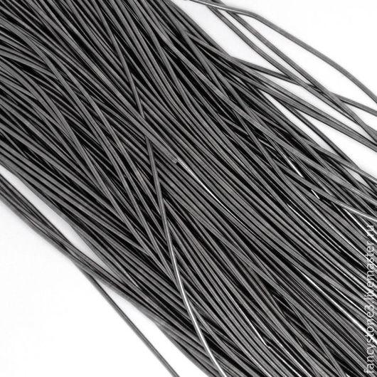 Для украшений ручной работы. Ярмарка Мастеров - ручная работа. Купить Канитель гладкая 1мм, цвет Серый металлик, Индия. Handmade.