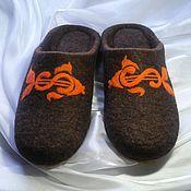 Обувь ручной работы. Ярмарка Мастеров - ручная работа Исполнение желаний. Валяные тапочки.. Handmade.