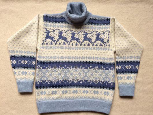 """Кофты и свитера ручной работы. Ярмарка Мастеров - ручная работа. Купить Джемпер/свитер """"Норвежские звездные олени"""" (Микс). Handmade."""