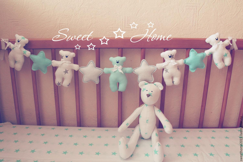 Украшение в кроватку новорожденного своими руками