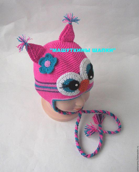 """Шапки и шарфы ручной работы. Ярмарка Мастеров - ручная работа. Купить Шапка""""Сова""""№28. Handmade. Комбинированный, совушка, зверошапка, шапка детская"""
