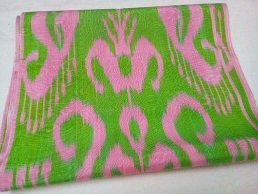 Шитье ручной работы. Ярмарка Мастеров - ручная работа. Купить Узбекский цветной шелковый икат. Ткань ручного ткачества Адрас. Handmade.