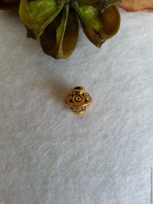 Для украшений ручной работы. Ярмарка Мастеров - ручная работа. Купить Бусины  античное золото. Handmade. Золотой, бусины