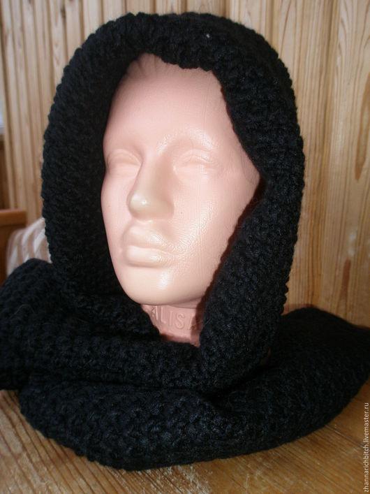Капюшоны ручной работы. Ярмарка Мастеров - ручная работа. Купить Капюшон-шарф вязаный. Handmade. Аксессуары handmade, митенки вязаные