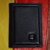 """Канцелярские товары handmade. Livemaster - original item Обложка на паспорт """"Ваше благородие"""" из натуральной черной кожи. Handmade."""