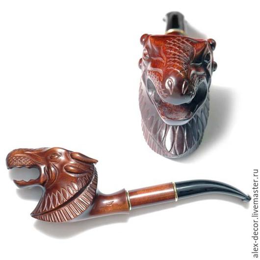 """Подарки для мужчин, ручной работы. Ярмарка Мастеров - ручная работа. Купить Курительная трубка """"Dragon"""". Handmade. Трубка, курительные трубки"""