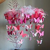"""Люстры ручной работы. Ярмарка Мастеров - ручная работа Люстра """"Розовые бабочки"""". Handmade."""