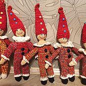 Куклы и игрушки ручной работы. Ярмарка Мастеров - ручная работа петрушка-погремушка. Handmade.