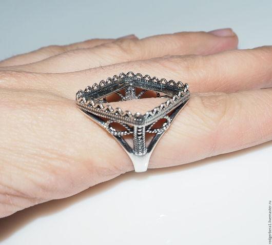 """Для украшений ручной работы. Ярмарка Мастеров - ручная работа. Купить Основа для кольца """"Селеста"""" - серебрение 925 пробы. Handmade."""