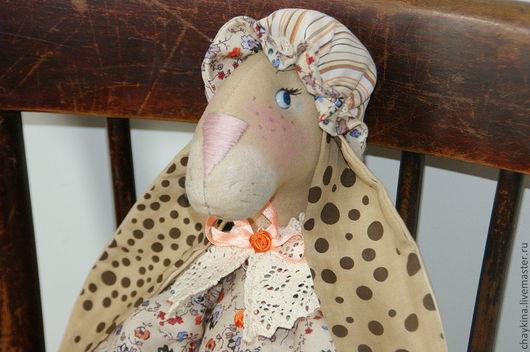 Ароматизированные куклы ручной работы. Ярмарка Мастеров - ручная работа. Купить Крольчиха Сентябрина. Handmade. Крольчиха, текстильная игрушка, штапель