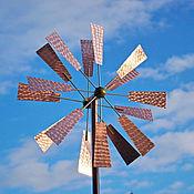 Для дома и интерьера ручной работы. Ярмарка Мастеров - ручная работа Кинетическая ветряная скульптура для сада Мельница. Handmade.