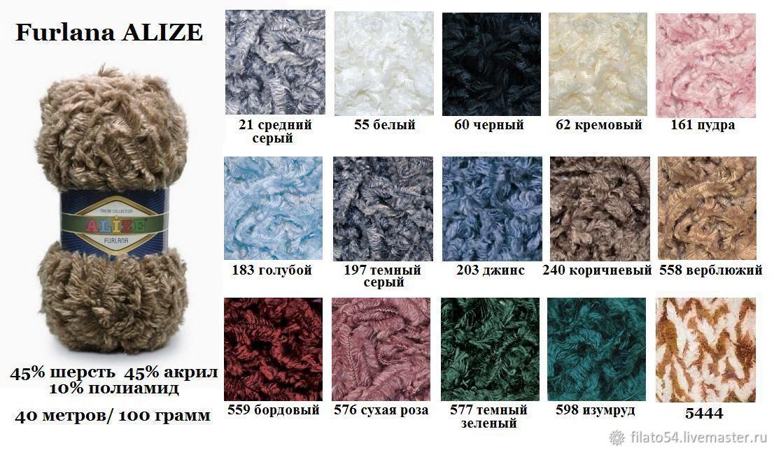 Пряжа для вязания ализе фурлана 248