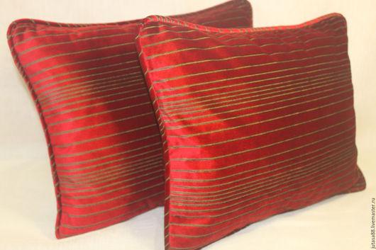 Текстиль, ковры ручной работы. Ярмарка Мастеров - ручная работа. Купить Чехлы на подушки из красного бархата. Handmade. Ярко-красный
