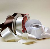 Ленты ручной работы. Ярмарка Мастеров - ручная работа Лента атласная 40 мм гладкая. Handmade.