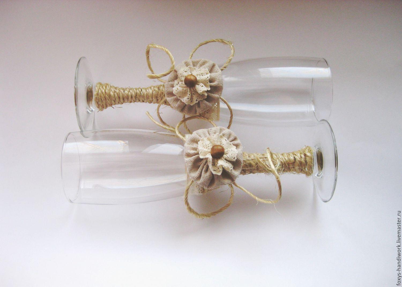 Glasses wedding rustic rustic, Wedding glasses, Tula,  Фото №1