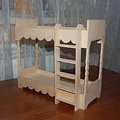 Материалы для творчества handmade. Livemaster - original item The two-storey doll bed for Barbie.317.. Handmade.