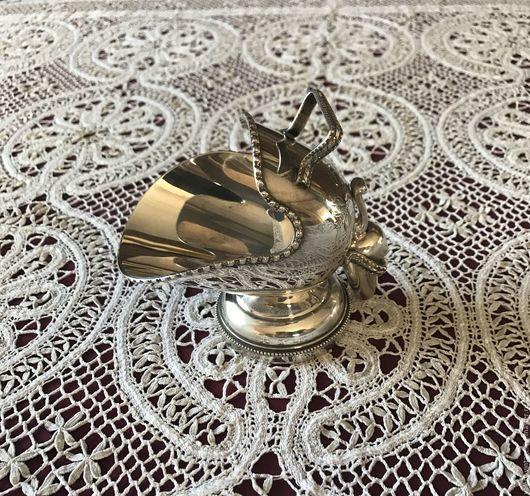 Винтажная посуда. Ярмарка Мастеров - ручная работа. Купить Винтажный зольник-сахарница с совочком, серебрение, Англия.. Handmade. Блошиный рынок