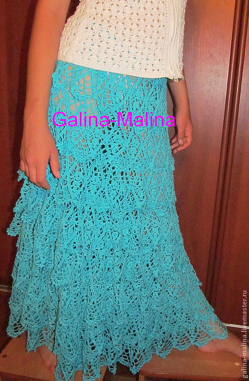 Knitted skirt.Sky blue, Skirts, Penza,  Фото №1