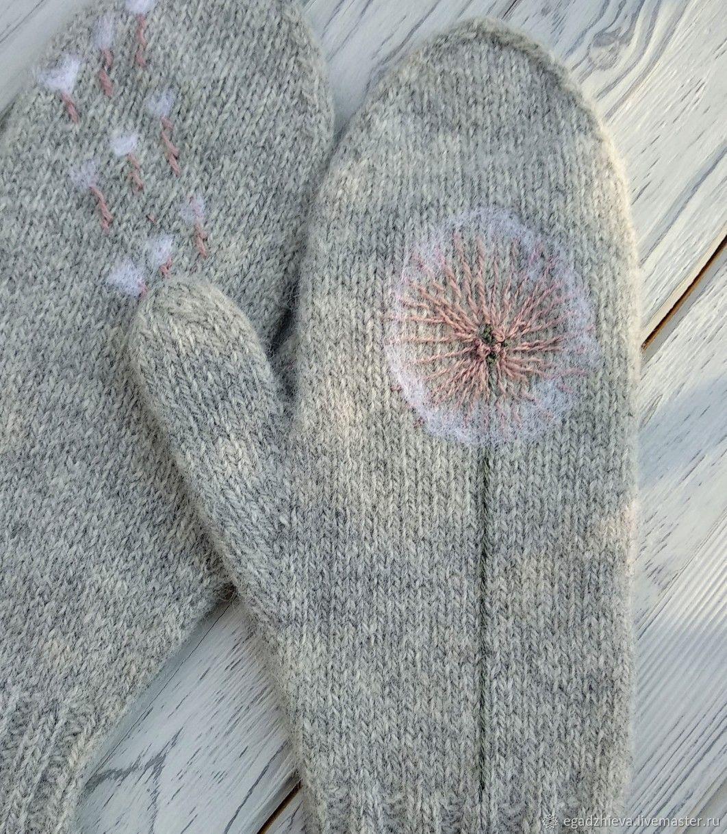Mittens knitted dandelion, Mittens, Tyumen,  Фото №1