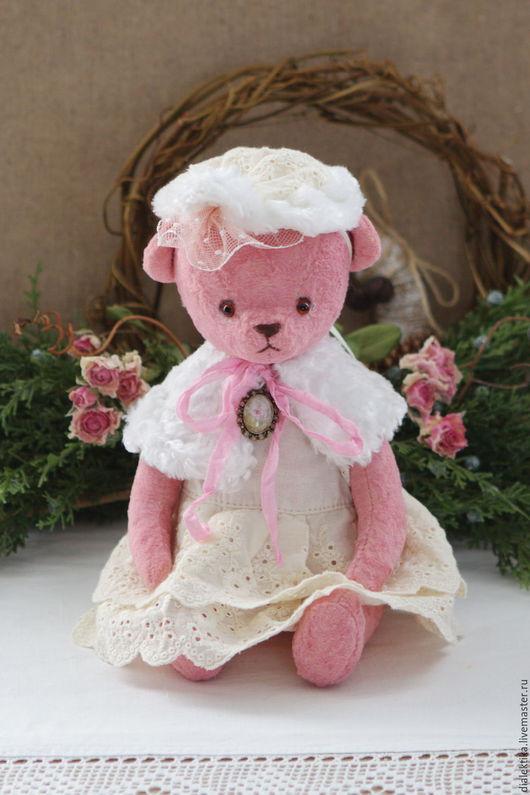 Мишки Тедди ручной работы. Ярмарка Мастеров - ручная работа. Купить Маленькая леди. Handmade. Розовый, шитьё кружево