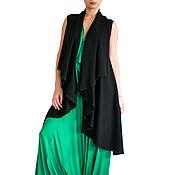 Одежда handmade. Livemaster - original item Cardigan womens Black cardigan Long cardigan