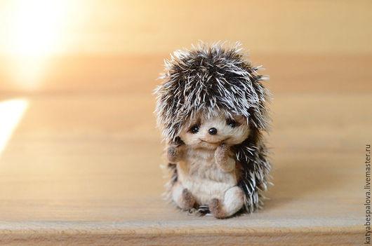 Мишки Тедди ручной работы. Ярмарка Мастеров - ручная работа. Купить Ежик. Handmade. Комбинированный, ежонок, тедди, подарок, високза